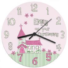 Whimsical Church Christening Clock